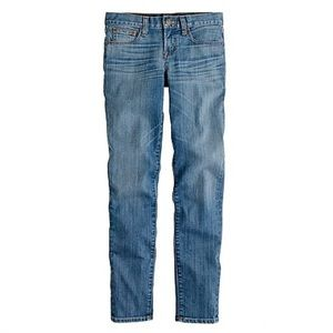 J. Crew toothpick jeans in northport wash